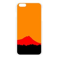 Sunset Orange Simple Minimalis Orange Montain Apple Seamless iPhone 6 Plus/6S Plus Case (Transparent)