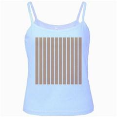 Symmetric Grid Foundation Baby Blue Spaghetti Tank