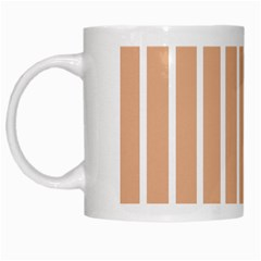 Symmetric Grid Foundation White Mugs