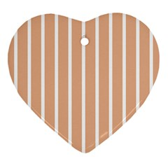 Symmetric Grid Foundation Heart Ornament (Two Sides)