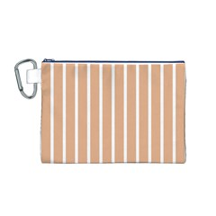 Symmetric Grid Foundation Canvas Cosmetic Bag (M)