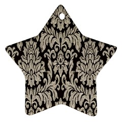 Wild Textures Damask Wall Cover Ornament (Star)