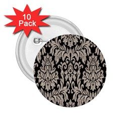 Wild Textures Damask Wall Cover 2.25  Buttons (10 pack)