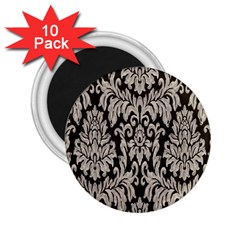 Wild Textures Damask Wall Cover 2.25  Magnets (10 pack)