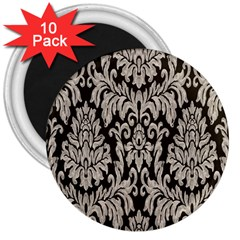 Wild Textures Damask Wall Cover 3  Magnets (10 pack)