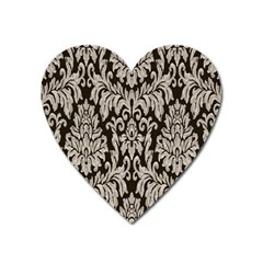 Wild Textures Damask Wall Cover Heart Magnet