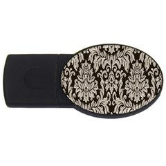 Wild Textures Damask Wall Cover USB Flash Drive Oval (1 GB)