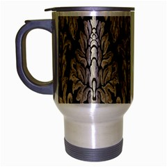 Wild Textures Damask Wall Cover Travel Mug (Silver Gray)