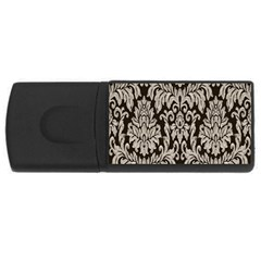 Wild Textures Damask Wall Cover USB Flash Drive Rectangular (4 GB)