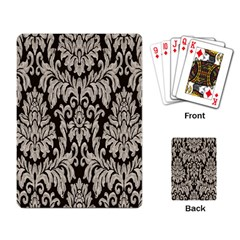 Wild Textures Damask Wall Cover Playing Card
