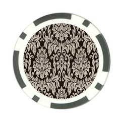 Wild Textures Damask Wall Cover Poker Chip Card Guard
