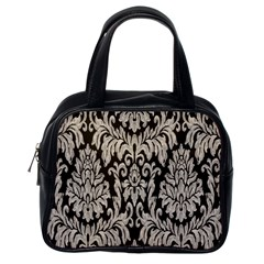 Wild Textures Damask Wall Cover Classic Handbags (One Side)