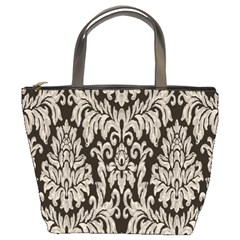 Wild Textures Damask Wall Cover Bucket Bags