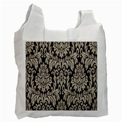 Wild Textures Damask Wall Cover Recycle Bag (Two Side)