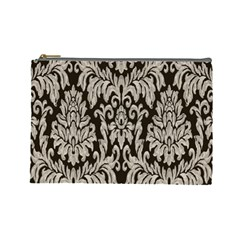 Wild Textures Damask Wall Cover Cosmetic Bag (Large)