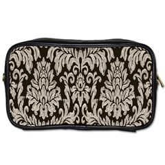 Wild Textures Damask Wall Cover Toiletries Bags