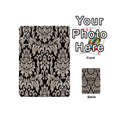 Wild Textures Damask Wall Cover Playing Cards 54 (Mini)
