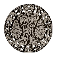 Wild Textures Damask Wall Cover Ornament (Round Filigree)