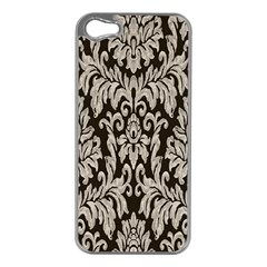 Wild Textures Damask Wall Cover Apple iPhone 5 Case (Silver)