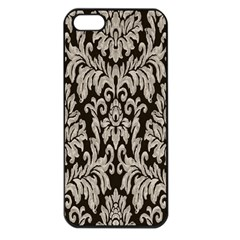 Wild Textures Damask Wall Cover Apple iPhone 5 Seamless Case (Black)