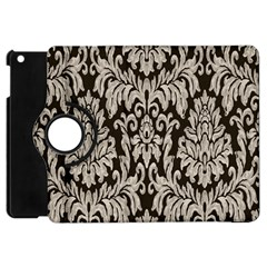 Wild Textures Damask Wall Cover Apple iPad Mini Flip 360 Case