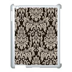 Wild Textures Damask Wall Cover Apple iPad 3/4 Case (White)