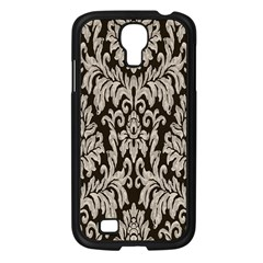 Wild Textures Damask Wall Cover Samsung Galaxy S4 I9500/ I9505 Case (Black)