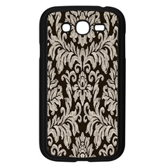 Wild Textures Damask Wall Cover Samsung Galaxy Grand DUOS I9082 Case (Black)