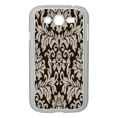 Wild Textures Damask Wall Cover Samsung Galaxy Grand DUOS I9082 Case (White)