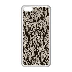 Wild Textures Damask Wall Cover Apple iPhone 5C Seamless Case (White)