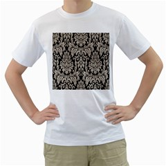 Wild Textures Damask Wall Cover Men s T-Shirt (White)