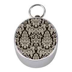 Wild Textures Damask Wall Cover Mini Silver Compasses