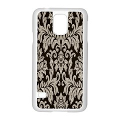 Wild Textures Damask Wall Cover Samsung Galaxy S5 Case (White)