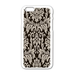 Wild Textures Damask Wall Cover Apple iPhone 6/6S White Enamel Case