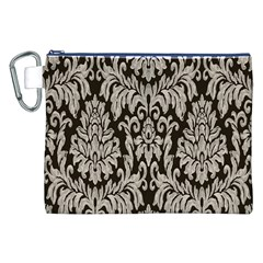 Wild Textures Damask Wall Cover Canvas Cosmetic Bag (XXL)