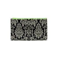 Wild Textures Damask Wall Cover Cosmetic Bag (XS)