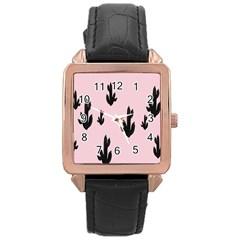 Tree Kartus Pink Rose Gold Leather Watch