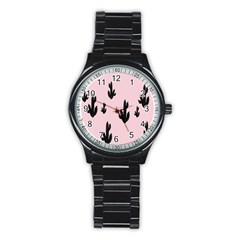 Tree Kartus Pink Stainless Steel Round Watch