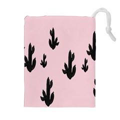 Tree Kartus Pink Drawstring Pouches (Extra Large)