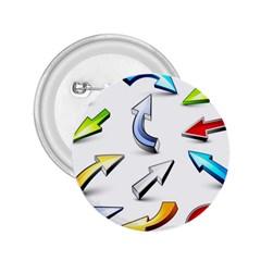 Three Dimensional Crystal Arrow 2.25  Buttons