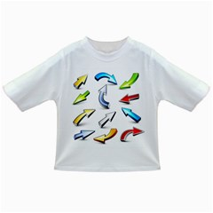 Three Dimensional Crystal Arrow Infant/Toddler T-Shirts