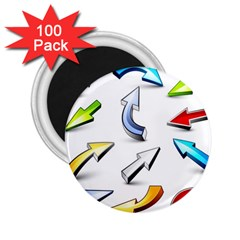 Three Dimensional Crystal Arrow 2.25  Magnets (100 pack)