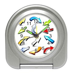 Three Dimensional Crystal Arrow Travel Alarm Clocks