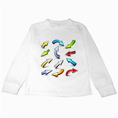 Three Dimensional Crystal Arrow Kids Long Sleeve T-Shirts
