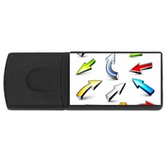 Three Dimensional Crystal Arrow USB Flash Drive Rectangular (4 GB)