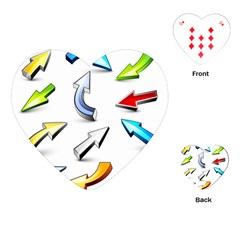 Three Dimensional Crystal Arrow Playing Cards (Heart)