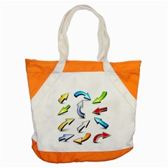 Three Dimensional Crystal Arrow Accent Tote Bag