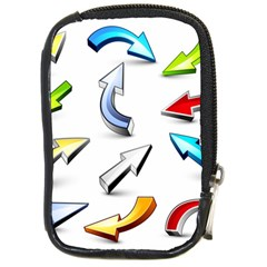 Three Dimensional Crystal Arrow Compact Camera Cases