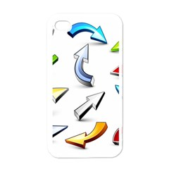 Three Dimensional Crystal Arrow Apple iPhone 4 Case (White)
