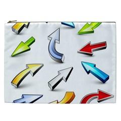Three Dimensional Crystal Arrow Cosmetic Bag (XXL)